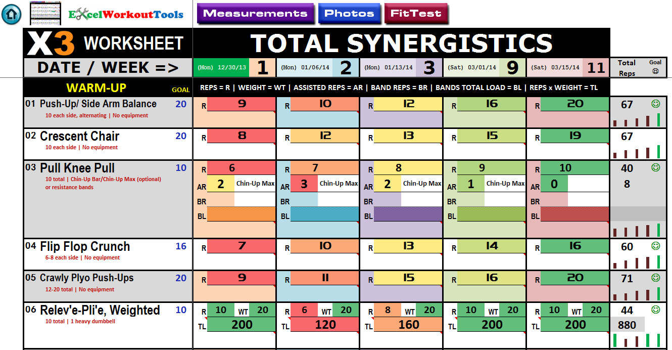 p90x3 excel total synergistics worksheet