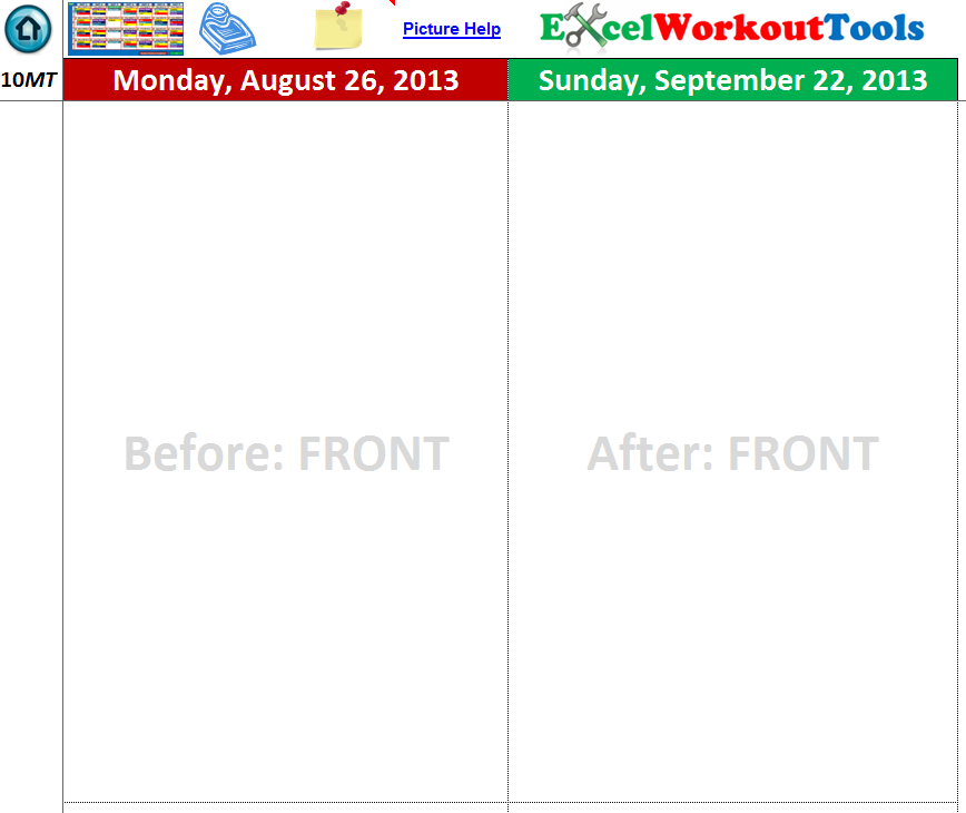EXCEL WORKOUT TOOLS 10-MINUTE TRAINER PHOTO TRACKER
