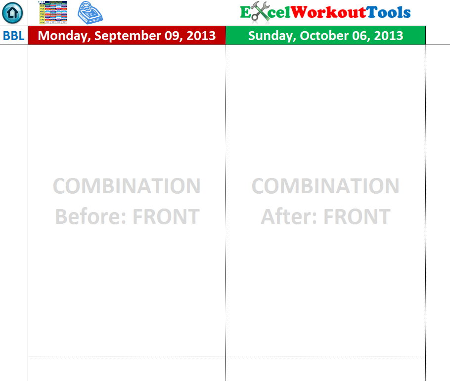 excel workout tools photo tracker page for brazil butt lift