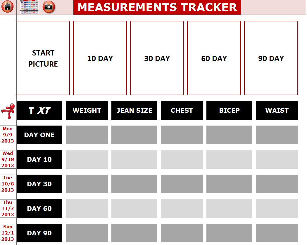 EXCEL WORKOUT TOOLS TRANSFORMATION TRACKER FOR TAPOUT XT