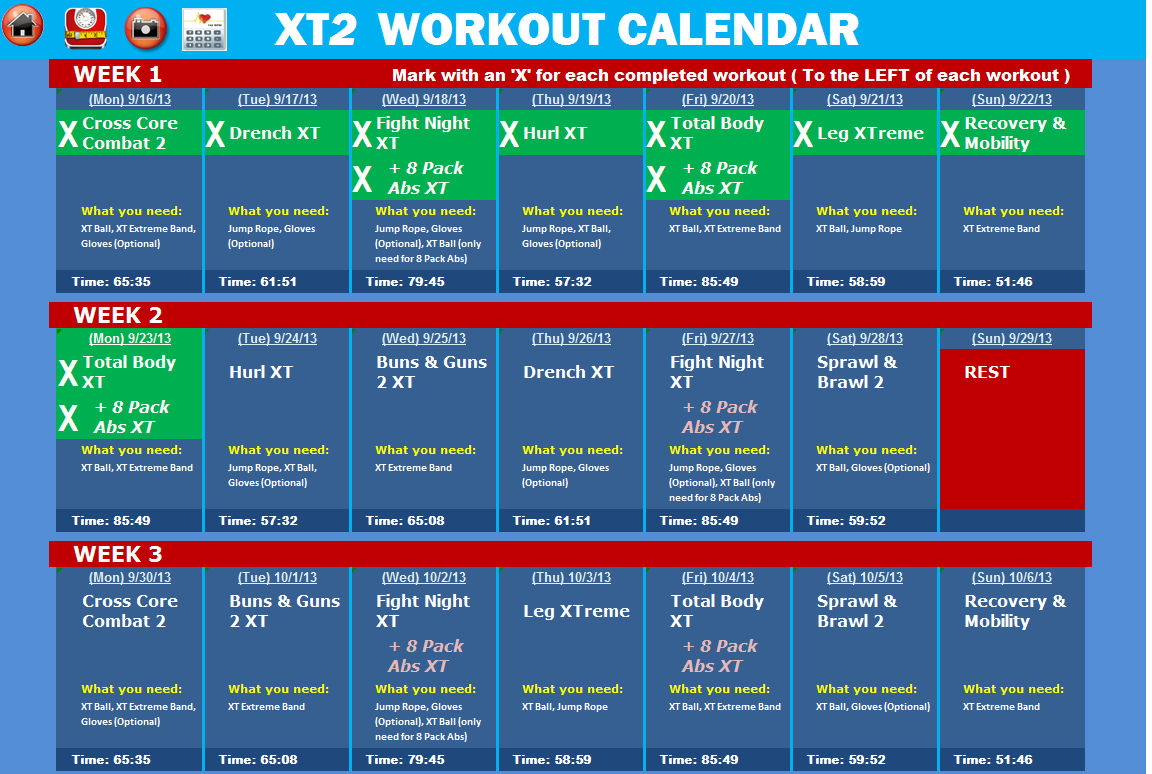 Tapout Xt Workout Calendar Pdf/page/2 | Search Results | Calendar 2015